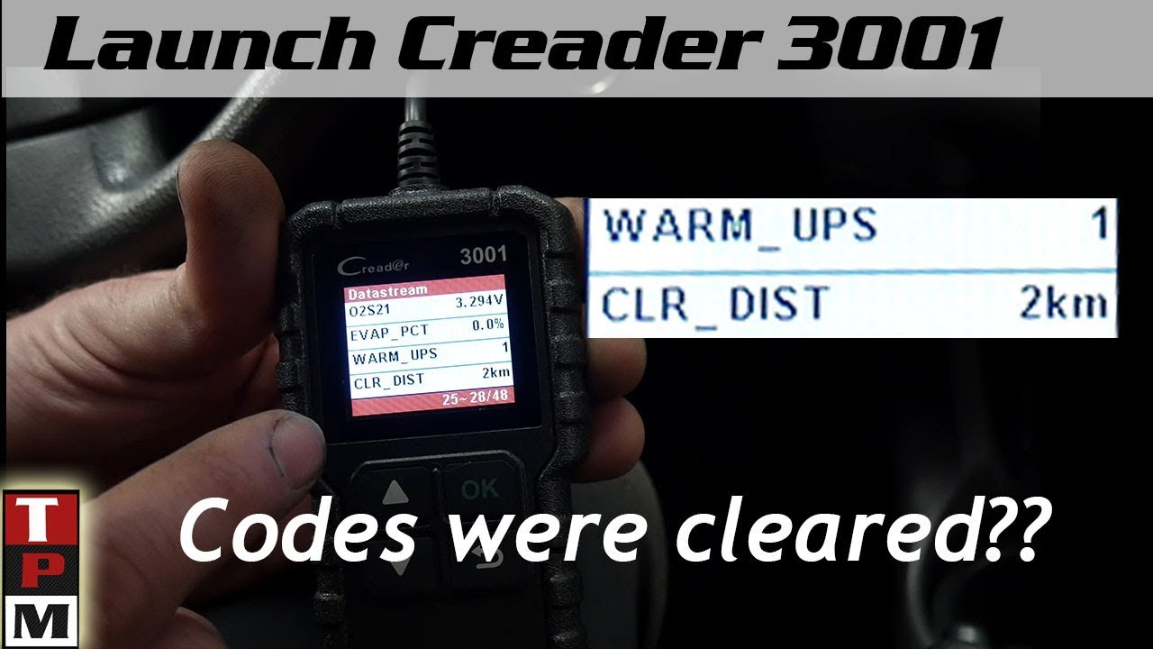 Creader 3001 OBDII Scanner Review by 3dogs1monkey
