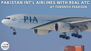 PIA Pakistan Boeing 777-240(LR) With Full Pilot Conversation | AP-BGY | Arrival/Departure At Toronto
