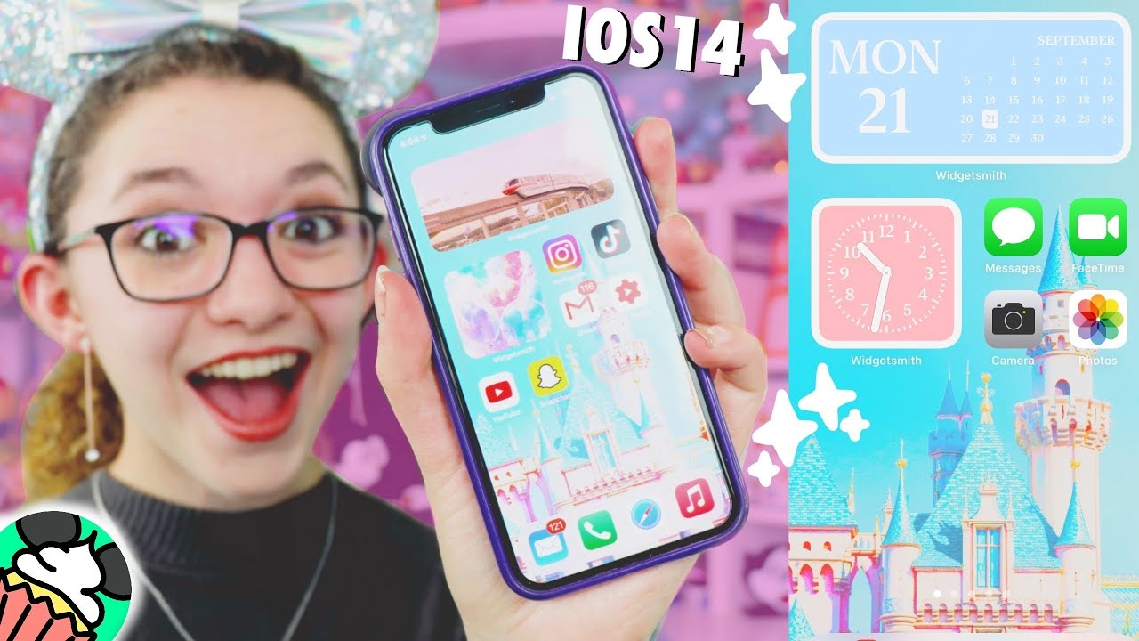 Easy How To Make Aesthetic Ios 14 Home Screen Disney Edition Widgets Custom Apps Tips Must Do Youtube