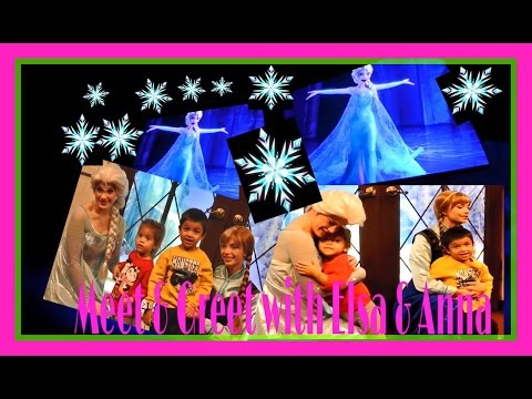 Meet and Greet with Elsa and Anna/Frozen/disneyland/California adventure