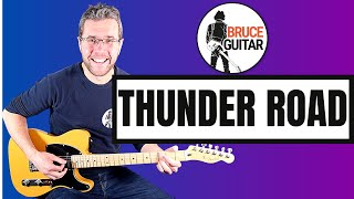 Bruce Springsteen - Thunder Road guitar lesson