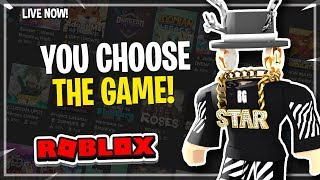 🔴 You Choose the game! | Roblox Jailbreak, mm2 and more | Roblox Live