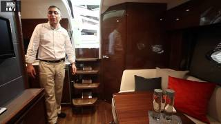 Motor Boats Monthly review the new Princess V39 at the london boat show 2012