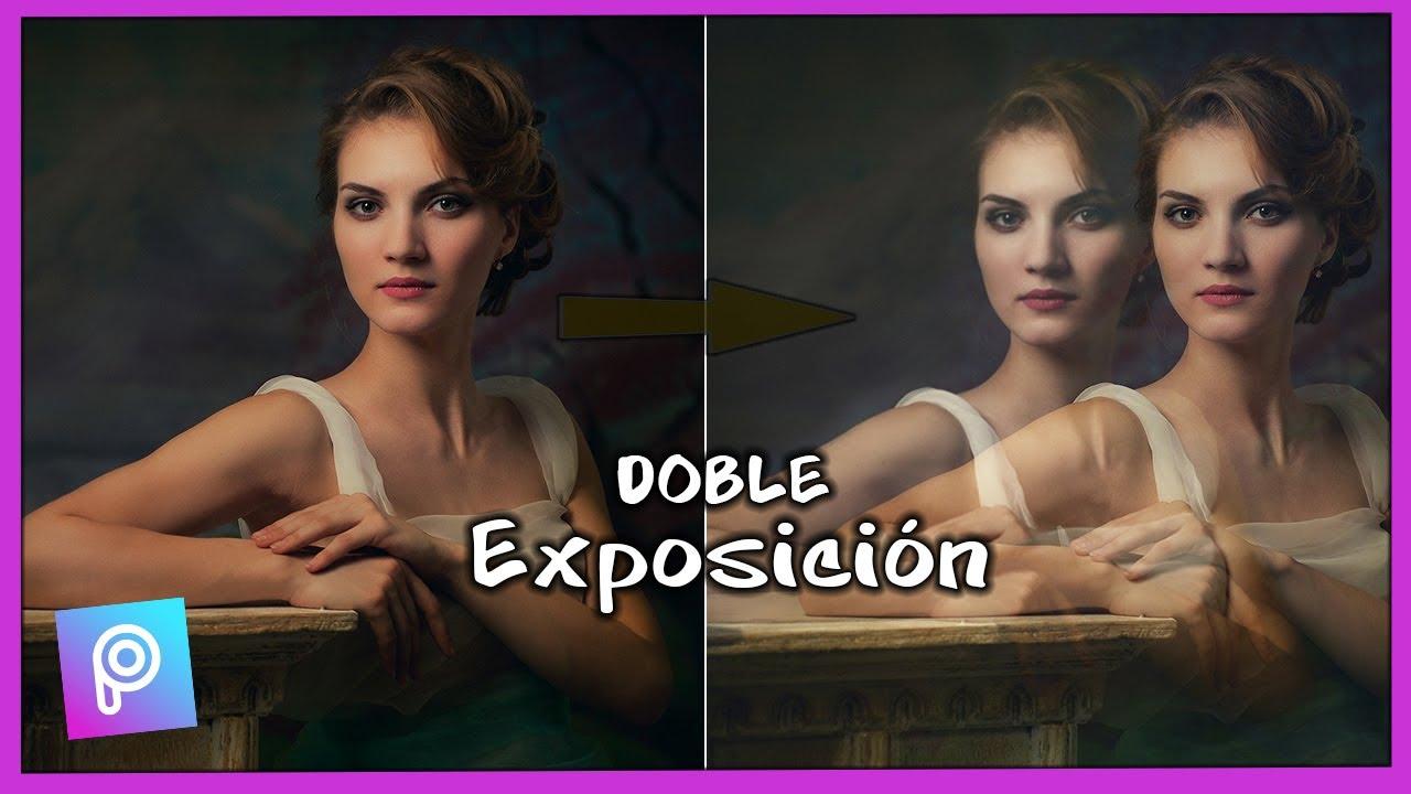Efecto Picsart Aesthetic - Doble exposición