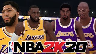 Can NBA 2K20's LA Lakers Beat The Showtime Lakers?! - NBA 2K20 Gameplay Concept Updated Rosters