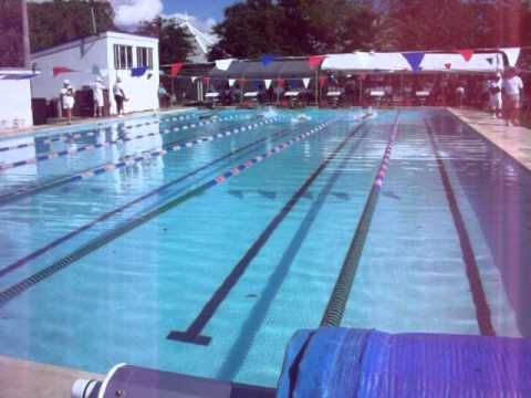 Donte Swims Breaststroke at Northern Bahamas Short Course Swim Championships