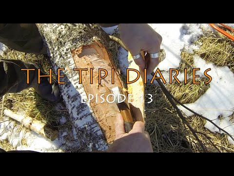 The Tipi Diaries Ep13 - Hot Tent Winter Camping - Bushcraft Sweden  - Tentipi Safir 7