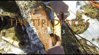 The Tipi Diaries Ep13 - Firewood Drying Rack - Pipe Carving - Soil Fireproofing - Birch Bark