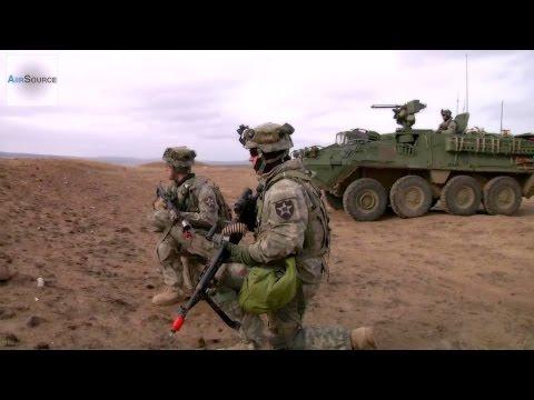US Army Stryker Combat Vehicle Training