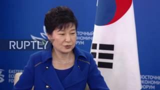 Russia: Putin and S. Korea's Park talk economic ties on EEF sidelines