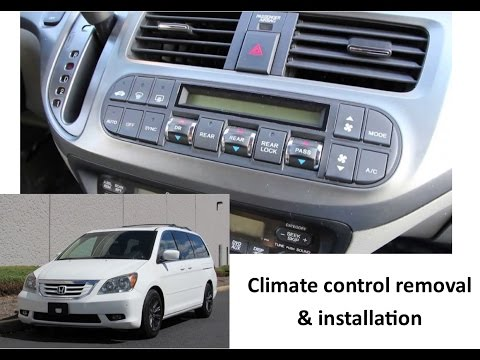 Odyssey Climate Control Temperature Replacement Removal