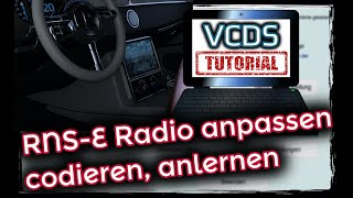 VCDS: Navi codieren RNSE anpassen, anlernen; Fehler 01044 Steuergerät falsch codiert