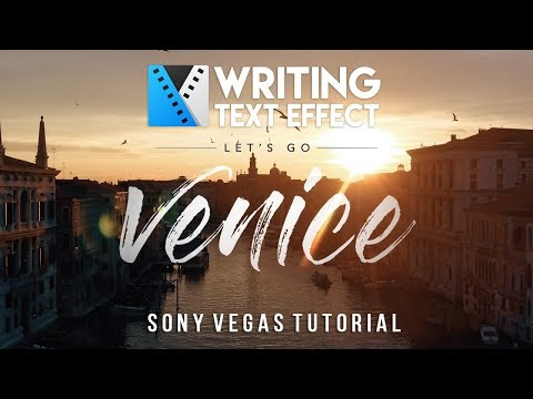 Beautiful Destinations Text Effect Inspired - Writing Text [Vegas Pro Tutorial]