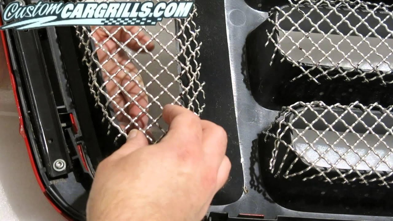 customcargrills com - How To Make a Wire Mesh Grill For Ford F-150