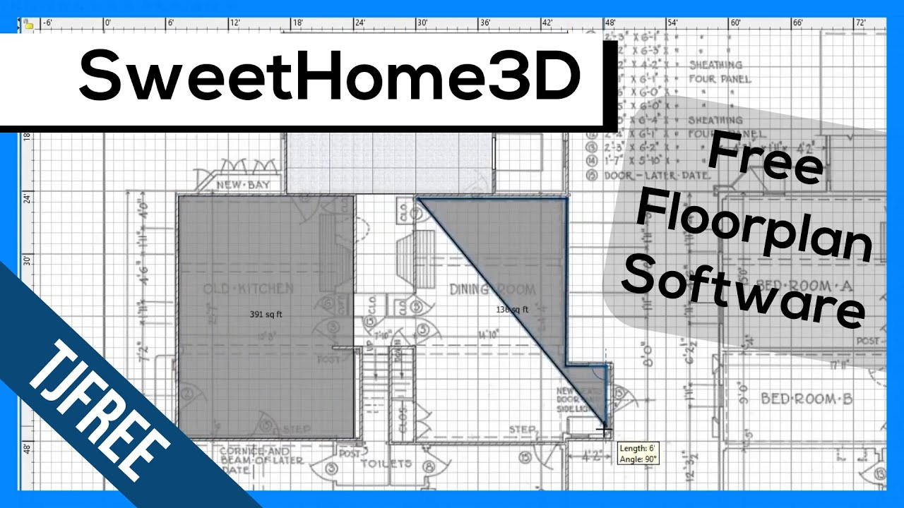Search free 3d models sweet home 3d velux. Sweethome3d Free Floorplan Drawing Software Youtube