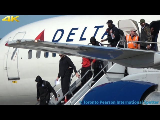 4K] Toronto Raptors Arriving! Delta 757-232 [N655DL] Arrival