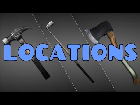 Hitman 2016 Paris All Melee Weapons Locations Showcase Youtube