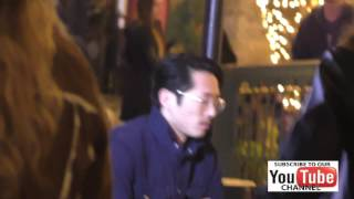 Steven Yeun promoting Trollhhunters at The Grove in Hollywood