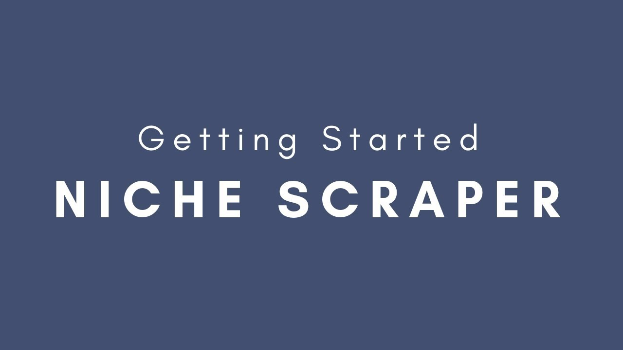 Niche Scraper - Spy on Winning Products