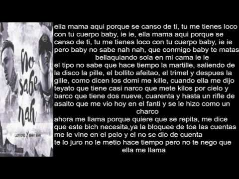 Benny Benni Ft Lary Over No Sabe Nah (Letra)