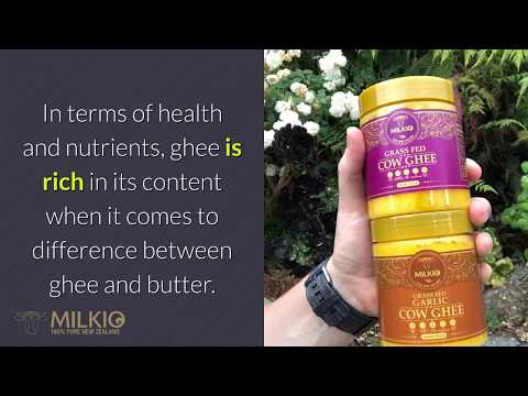 Difference between ghee and butter