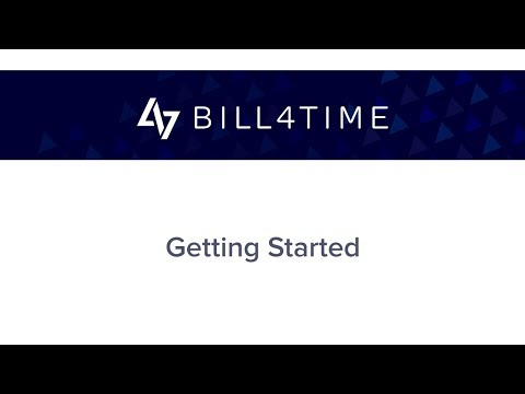 Bill4Time:  Getting Started