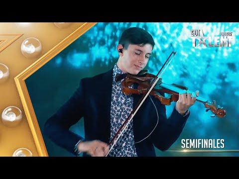 EMANUEL se lució con su violín al ritmo de Bitter Sweet Symphony