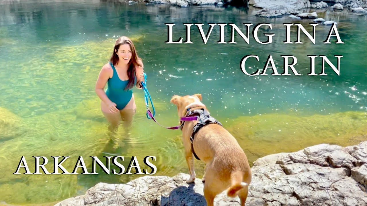 Living in a Prius in Arkansas (pt 1) - Solo Female with a dog, full-time car life adventures!