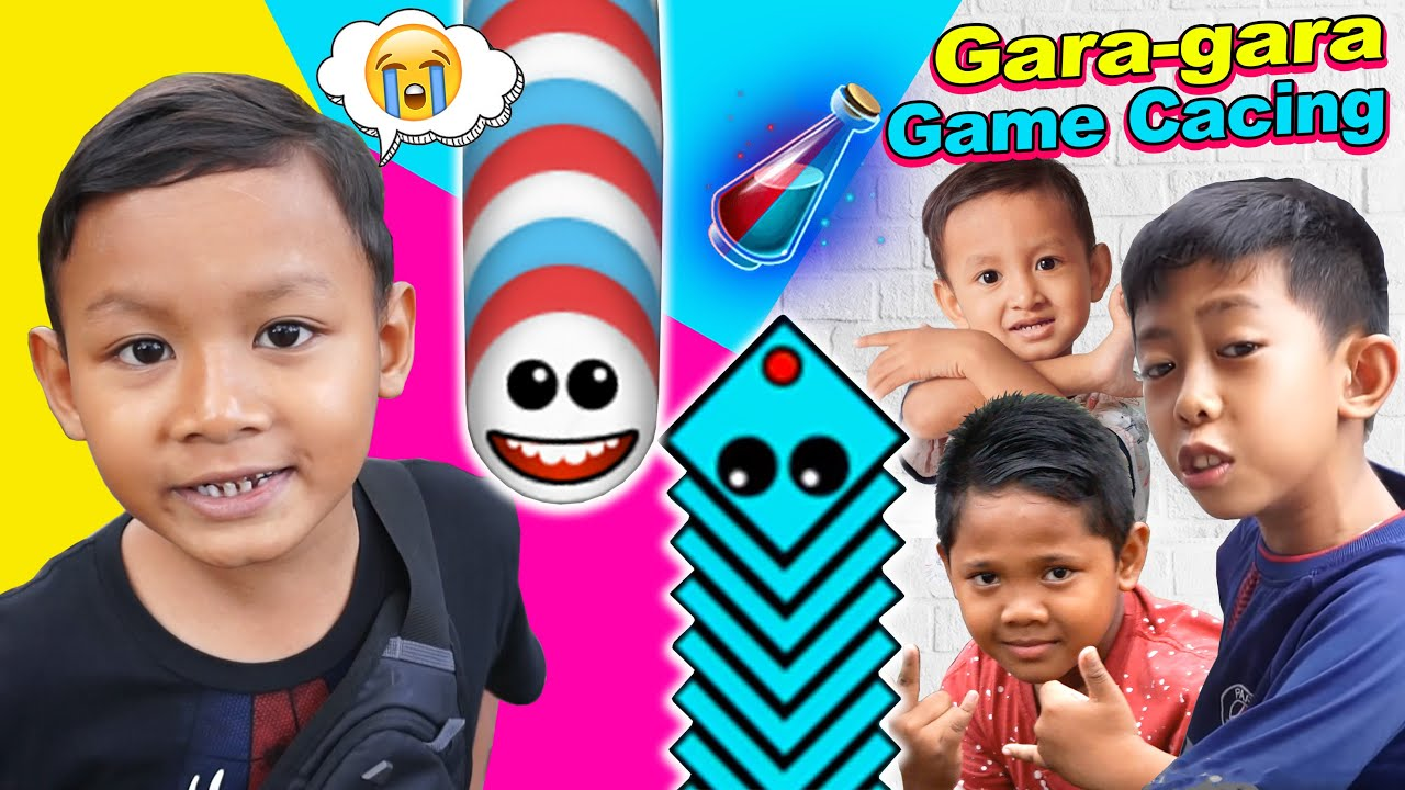 Praya Bermain Bersama Teman-teman | Drama Parodi Praya Brother Gara Gara Game Cacing