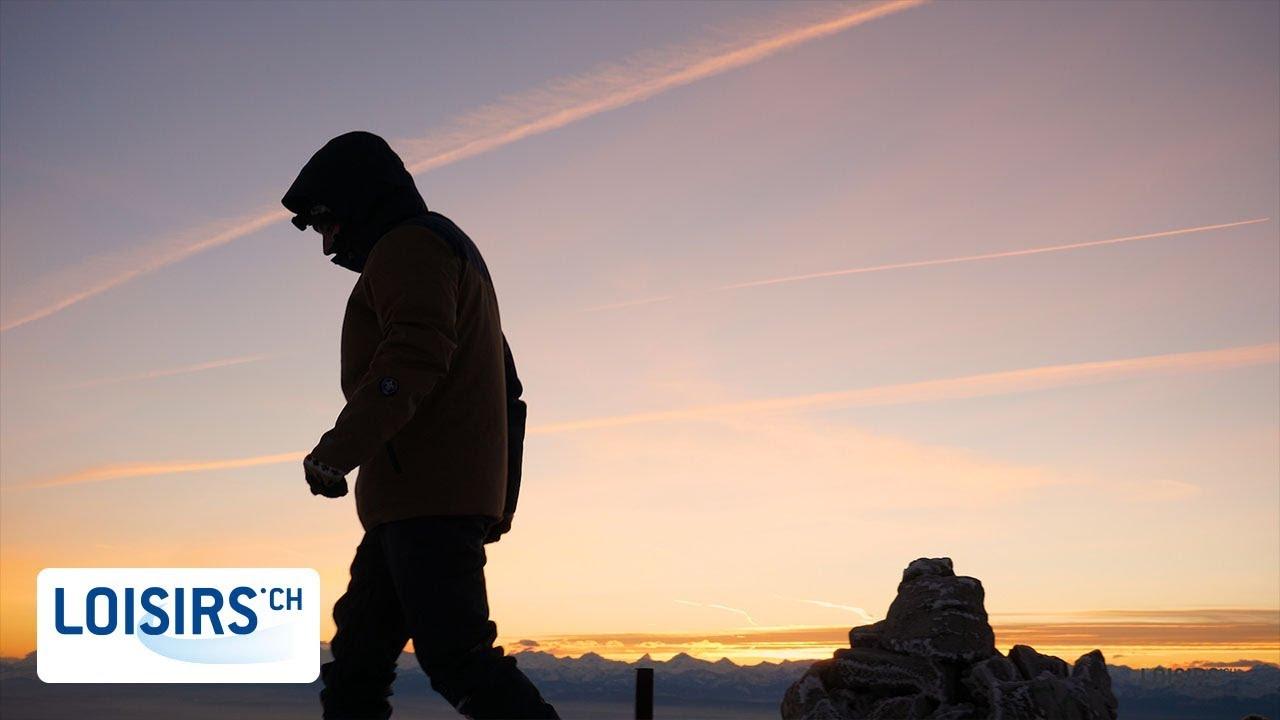 2df9cf7b957284 Du blizzard au lever de soleil - Le Chasseron - YouTube