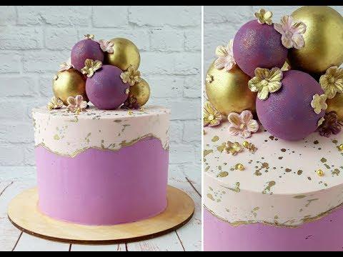 Двухцветный торт. Шоколадные сферы/Two-color Cake. Chocolate Spheres