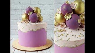 Двухцветный торт Шоколадные сферы Two color cake Chocolate Spheres