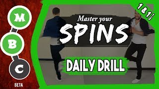 🌪How to Improve Your Spins ★ Spins Drill (1-1½) ★ Intermediate - Advanced ★ #MBCspins