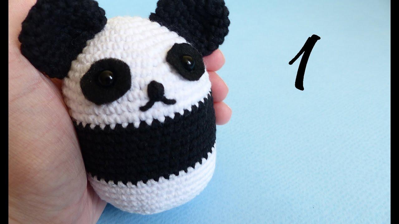Amigurumi Panda Bear Crochet Pattern : Panda ball amigurumi crochet free pattern and video tutorial