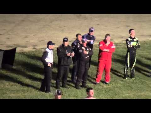 2015 Lee Schuler Memorial Late Model Driver Intro Grundy County Speedway 9/6/15