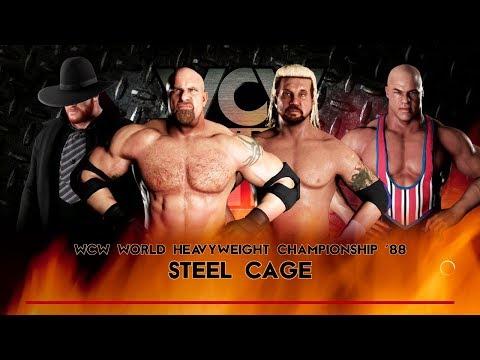 WWE 2K18 | The Undertaker vs Goldberg vs DDP vs Kurt Angle | Steel Cage Fatal 4 Way