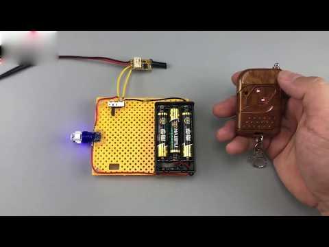 Funkschalter mit Fernbedienung Funksteuerung Lichtschalter hoch Reichweite Relaisschalter