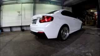 epic bmw m235i f22 armytrix f1 exhaust by ck motorsport