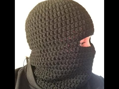How To Crochet A Balaclava Ski Hat Ski Beanie Tutorial Youtube