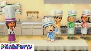 Wii Party U Minigames Gameplay Dojo Domination #40 @MINH PARTY U
