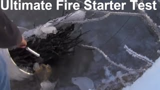 #2 Wet Frozen Wood Fire Starting / Easy Light Firestarter Test / Blizzard Kit / Survival Kit