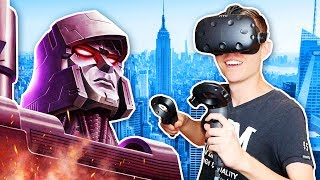 DESTROYING CITIES AS A ROBOT IN VIRTUAL REALITY! (VRobot HTC Vive Gameplay)