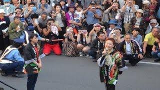 2013年9月20日、久慈秋祭りにて。 NHKドラマあまちゃんのヒロイン役、能...