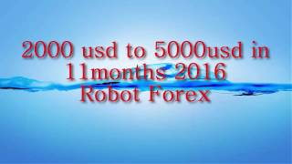 ROBOT FOREX 2000 to 5000usd in 11moths 2016,