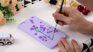 🎨 Painting Phone case #4  - Violet Phone  ✨