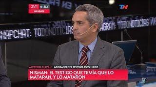 """A.Oliván (Abogado del testigo asesinado en la causa Nisman) en """"TN"""", con Wiñazki y Geuna - 22/09/16"""