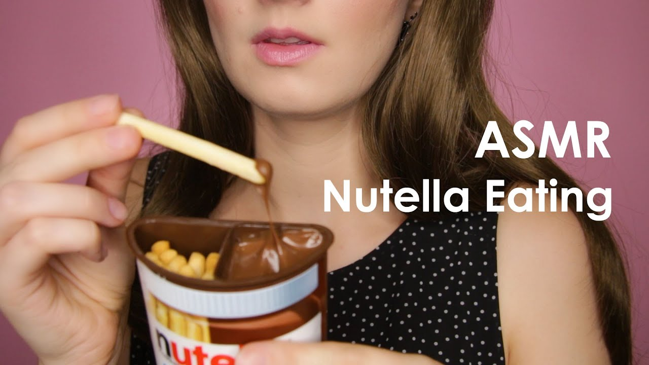Asmr Crispy Eating Sounds Wet Mouth Sounds Nutella Eating