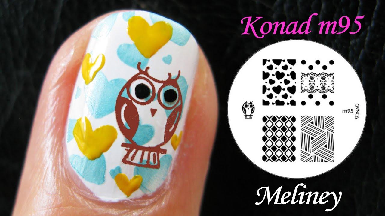 SUMMER NAILS   OWL CITY NAIL ART   Konad Stamping Animal Design ...