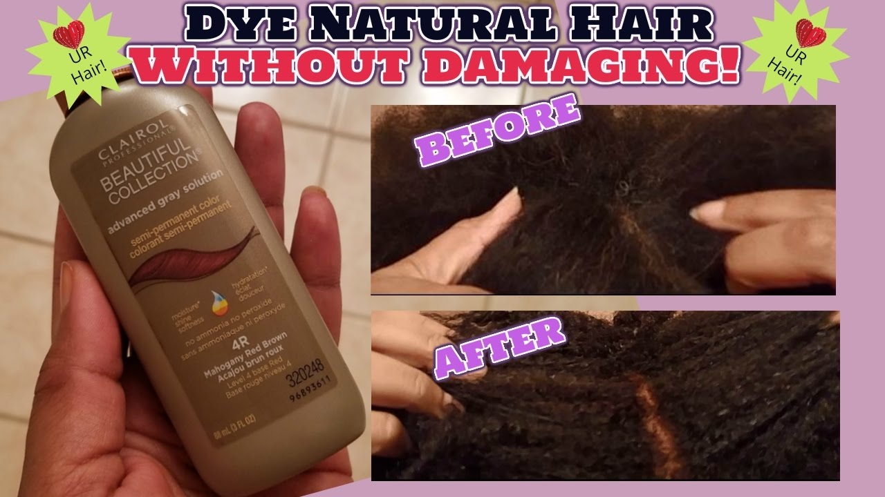 💥Dye Natural Hair/Stubborn Gray Hair Without Damaging💥 - YouTube
