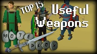 Top 15 Useful Oldschool RuneScape Weapons